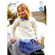 Stylecraft Girls Sweater Knitting Pattern 8903  DK