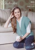 Stylecraft Ladies Waistcoat Weekender Knitting Pattern 8920  Super Chunky