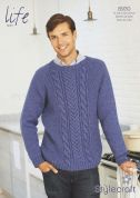 Stylecraft Mens Sweater Life Knitting Pattern 8930  Aran