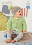 Stylecraft Baby & Childrens Cardigan, Blanket & Hat Lullaby Knitting Pattern 8974  DK