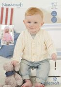 Stylecraft Baby Cardigans & Hat Special Knitting Pattern 8976  4 Ply