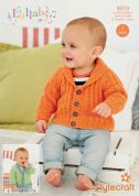 Stylecraft Baby & Childrens Cardigans Lullaby Knitting Pattern 8979  DK