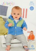 Stylecraft Baby & Childrens Jackets Lullaby Knitting Pattern 8981  DK
