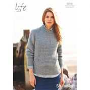 Stylecraft Ladies Sweater Knitting Pattern 9019  Aran