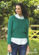 Stylecraft Ladies Sweater Life Knitting Pattern 9026  DK