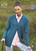 Stylecraft Ladies Cardigan & Waistcoat Life Knitting Pattern 9027  DK