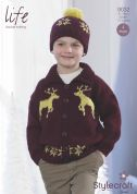 Stylecraft Childrens Christmas Sweater & Accessories Life Knitting Pattern 9032  DK