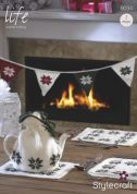 Stylecraft Home Christmas Tea Cosy, Table Mats & Bunting Life Knitting Pattern 9034  DK