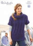 Stylecraft Ladies Sweater & Tunic Weekender Knitting Pattern 9037  Super Chunky