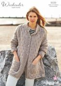 Stylecraft Ladies Coatigan Weekender Knitting Pattern 9038  Super Chunky