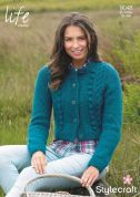 Stylecraft Ladies Cardigans Life Knitting Pattern 9047  Chunky