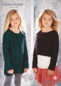 Stylecraft Childrens Sweater & Sweater Dress Eskimo Kisses Knitting Pattern 9053  DK