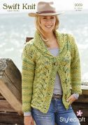 Stylecraft Ladies Cardigan Swift Knit Knitting Pattern 9069  Super Chunky
