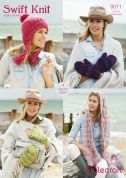 Stylecraft Ladies Accessories Swift Knit Knitting Pattern 9071  Super Chunky