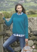 Stylecraft Ladies Sweater Special Knitting Pattern 9074  Aran