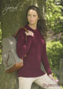 Stylecraft Ladies Fitted Sweater Special Knitting Pattern 9079  Chunky