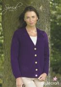Stylecraft Ladies Cardigan Special Knitting Pattern 9080  Chunky