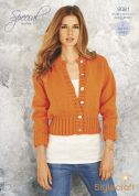 Stylecraft Ladies Sweater & Cardigan Special Knitting Pattern 9081  Chunky