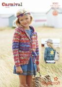 Stylecraft Childrens & Ladies Jacket & Hoodie Carnival Knitting Pattern 9083  Chunky