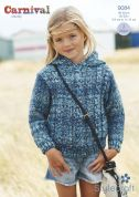 Stylecraft Childrens Cable Sweater & Hoodie Carnival Knitting Pattern 9084  Chunky