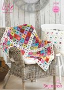 Stylecraft Home Blanket & Cushion Covers Life Crochet Pattern 9090  DK