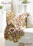 Stylecraft Home Star Motif Runner Crochet Pattern 9101  DK