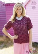 Stylecraft Ladies Tops Senses Knitting Pattern 9123  Lace