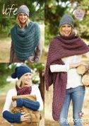 Stylecraft Ladies Wraps & Accessories Life Knitting Pattern 9126  Super Chunky