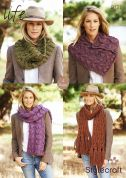 Stylecraft Ladies Scarves & Cowls Life Knitting Pattern 9127  Super Chunky