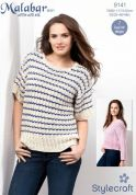 Stylecraft Ladies Sweater & Tee Malabar Knitting Pattern 9141  Aran