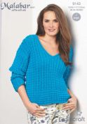Stylecraft Ladies Cable Vest & Sweater Malabar Knitting Pattern 9143  Aran