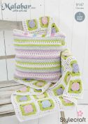 Stylecraft Home Throw & Cushion Malabar Crochet Pattern 9147  Aran