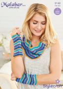 Stylecraft Ladies Cowl & Wrist Warmers Set Malabar Crochet Pattern 9148  Aran