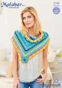 Stylecraft Ladies Shawls Malabar Crochet Pattern 9149  Aran