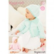 Stylecraft Baby Cardigans & Berets Wondersoft Knitting Pattern 9152  DK