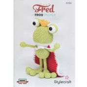 Stylecraft Fred The Frog Prince Toy Classique Cotton Crochet Pattern 9164  DK