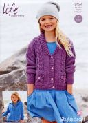 Stylecraft Girls Cardigans Life Knitting Pattern 9194  Chunky