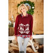 Stylecraft Ladies Christmas Sweater & Snood Special Knitting Pattern 9203  DK