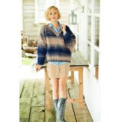 Stylecraft Ladies Sweaters Ombre Knitting Pattern 9218  Aran