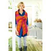 Stylecraft Ladies One Piece Waistcoat Ombre Knitting Pattern 9220  Aran