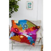 Stylecraft Home Chevron Flower Throw Special with Wool Crochet Pattern 9233  Aran