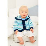 Stylecraft Baby Coat & Jacket Wondersoft Knitting Pattern 9268  DK