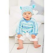 Stylecraft Baby Jacket, Hat & Blanket Wondersoft Knitting Pattern 9270  DK