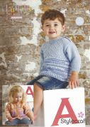 Stylecraft Baby & Childrens Sweater & Cardigan Lullaby Prints Knitting Pattern 9279  DK