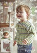 Stylecraft Baby & Childrens Sweater, Hat & Booties Lullaby Prints Knitting Pattern 9280  DK