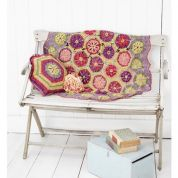 Stylecraft Home Cushion & Blanket Batik Crochet Pattern 9298  DK