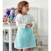 Stylecraft Baby & Girls Dress & Bolero Wondersoft Crochet Pattern 9323  DK