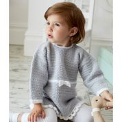 Stylecraft Baby & Girls Dress & Tunic Top Wondersoft Crochet Pattern 9324  DK