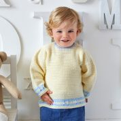 Stylecraft Baby & Boys Jacket & Sweater Wondersoft Crochet Pattern 9326  DK