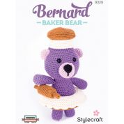 Stylecraft Bernard Baker Bear Cuddly Toy Classique Cotton Crochet Pattern 9329  DK